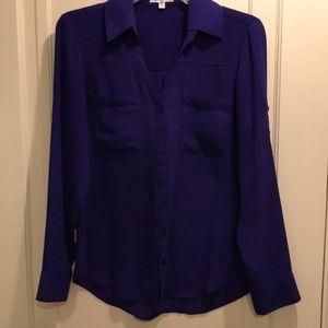 Express blouse deep purple size small